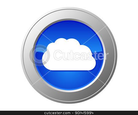 Cloud computing button stock photo, Cloud computing button by Robert Biedermann