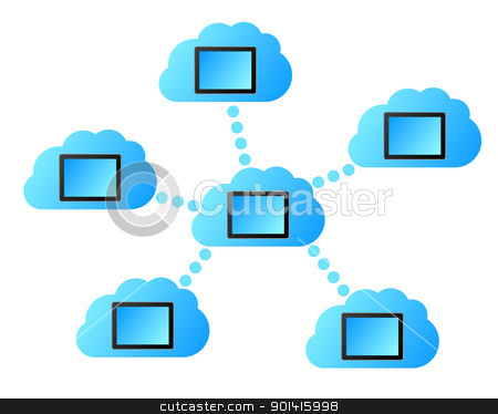 Cloud computing stock photo, Cloud computing by Robert Biedermann