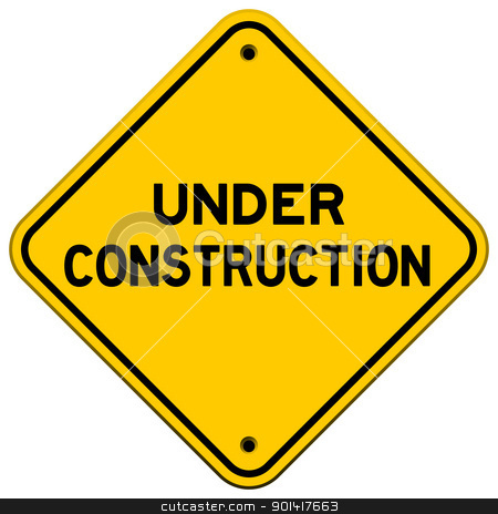 Under Construction Yellow Sign stock vector clipart, Under Construction Yellow Sign used in transportation by Vitezslav Valka
