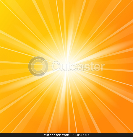 Sunshine vector background stock vector clipart, Sunshine vector background full of orange and yellow colors by Vitezslav Valka