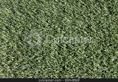 Close-up of Artificial Turf on Sports Field stock photo, Artificial turf on sports field, close-up detail by Bryan Mullennix