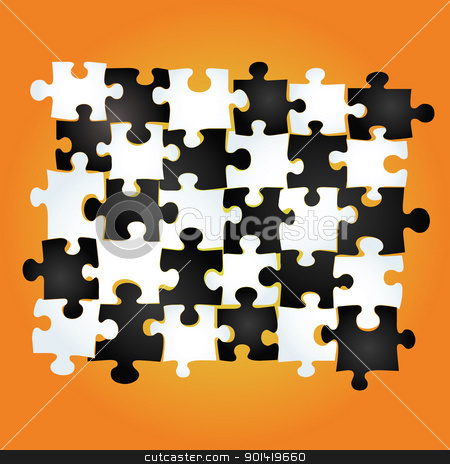 Puzzle Background stock vector clipart, puzzle background for your conceptual design background by H4nK