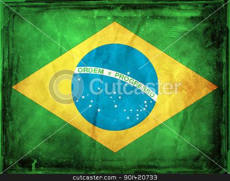 Brazil stock photo, Grunge flag series -  Brazil by sutike