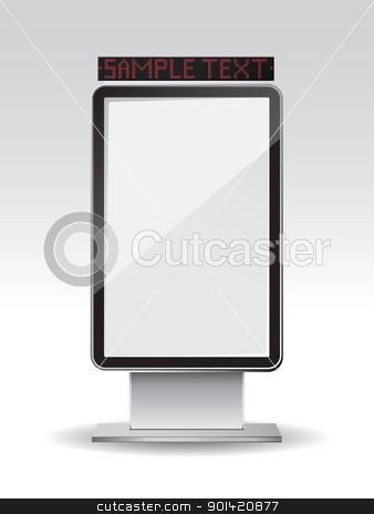 Blank vertical billboard stock vector clipart, Vector illustration of  a blank vertical billboard by Vladimir Gladcov