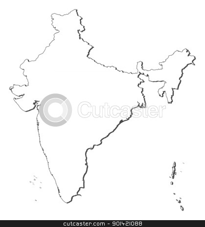 Map of India stock vector clipart, Political map of India with the several states. by Schwabenblitz