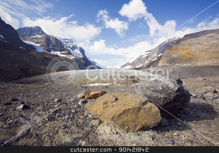 Athabasca Glacier stock photo, Athabasca Glacier, Columbia Icefield, Banff National Park by Bryan Mullennix