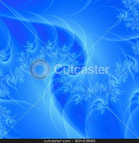 Blue Dream Spiral stock photo, Computer generated abstract image with a spiral design in blue by Colin Forrest