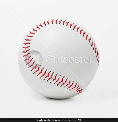 Baseball ball  stock photo, Image of single new baseball bal by Vladimir Gladcov