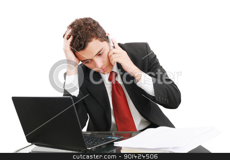 worried businessman on the phone, unhappy businessman stock photo, worried businessman on the phone, unhappy businessman by dacasdo