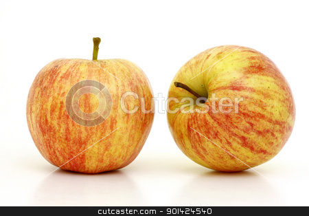 Apples stock photo, Two beautiful apples different positions by ARPAD RADOCZY