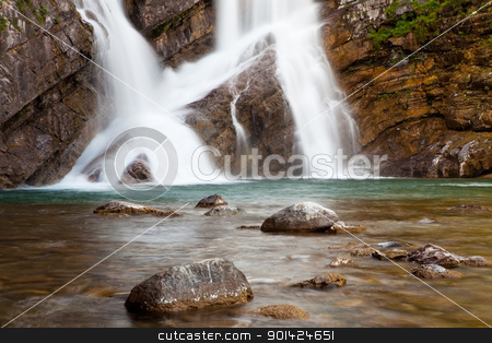 Cameron Falls stock photo, Cameron Falls in Waterton Lakes National Park, Alberta, Canada by Bryan Mullennix