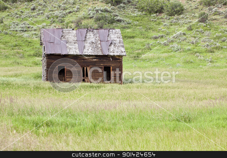 Old Homestead stock photo, Old Homestead in field, near Milner, Colorado by Bryan Mullennix