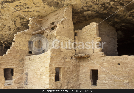Native american cliff dwelling stock photo, Native american cliff dwelling, Spruce Tree House, Mesa Verde National Park by Bryan Mullennix