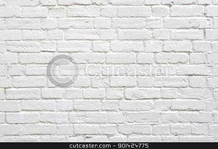 White brick wall stock photo, White brick wall background by Dutourdumonde