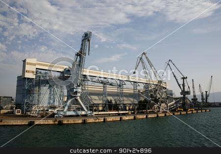 harbour stock photo, Unloading dock in Ploce harbour in Croatia by Paul Prescott