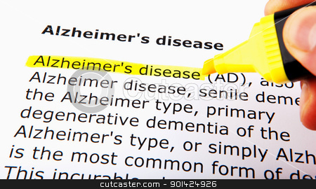 Alzheimer's disease stock photo, Alzheimer's disease by Nenov Brothers Images