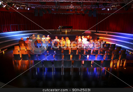 theatre stock photo, Theatre audience awaiting act in Tempodrom theatre in berlin, germany by Paul Prescott
