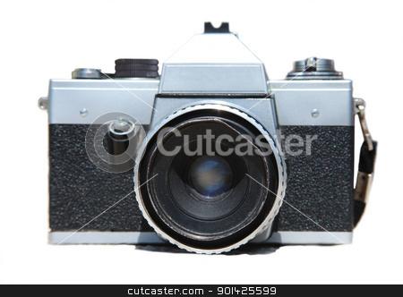 old praktica camera stock photo, old Praktica camera isolated on white by Paul Prescott