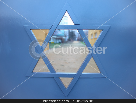 star of david stock photo, Star of david on gate in berlin, germany by Paul Prescott