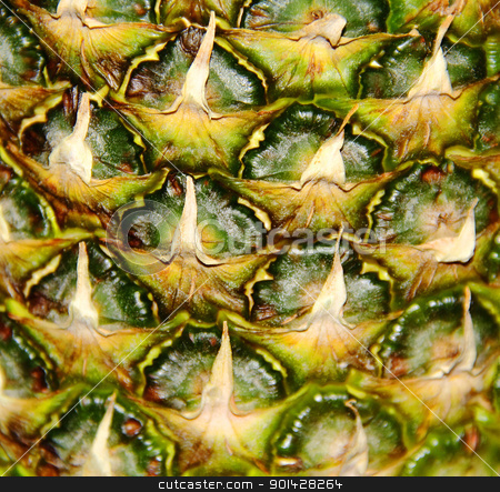 Image of big appetizing pineapple background stock photo, Image of big appetizing colorful pineapple background by Julialine