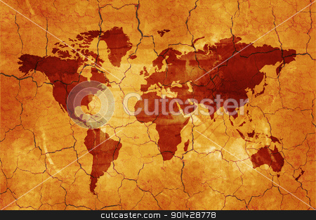 World map stock photo, Map of the world - world illustration by sutike