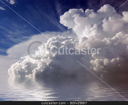 Sky and clouds stock photo, blue sky and cluods by sutike