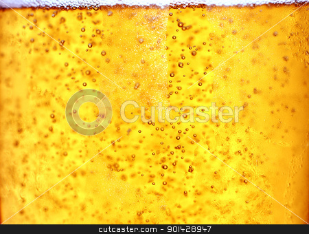 Glass of beer close-up  stock photo, Glass of beer close-up with bubbles by sutike