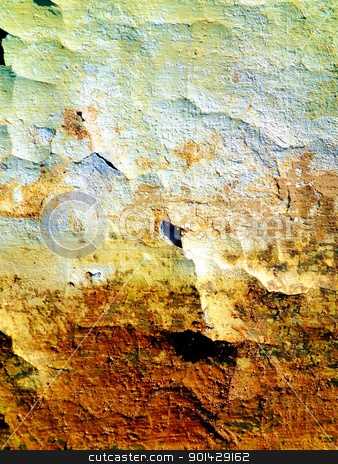 Old paint stock photo, Details of old decayed wall. by Primus