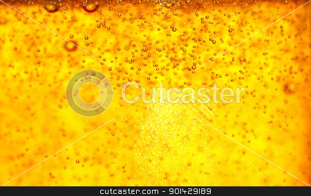 Glass of beer close-up with bubbles stock photo, Glass of beer close-up with bubbles by sutike