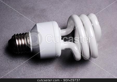 fluorescent light bulb stock photo, Energy saving fluorescent light bulb by sutike