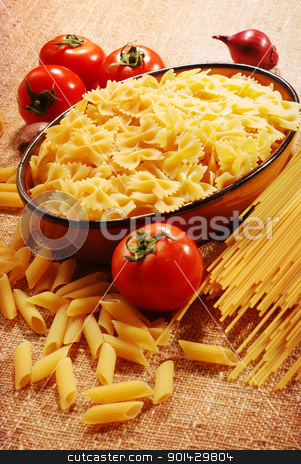 assorted pasta  stock photo, assorted pasta still life by sutike