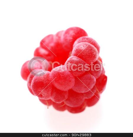 raspberry on white stock photo, raspberry on white background by sutike