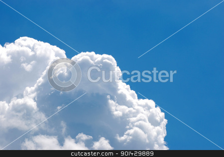 Blue sky with clouds stock photo, Blue sky with white clouds by sutike