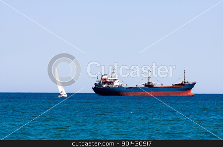 Boats stock photo, Marine boats will meet by ARPAD RADOCZY