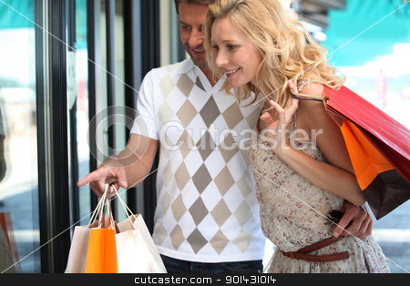 Couple shopping stock photo, Couple shopping by photography33