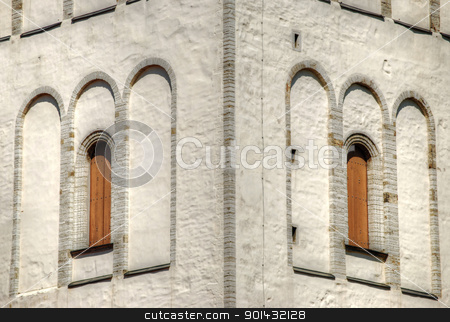 Symmetrical tower walls stock photo, Symmetrical tower walls in the old town of Tallinn by Illogical Conversions