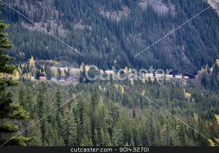 Spiral Tunnel Railway stock photo, Spiral Tunnel Railway Rocky Mountains British Columbia by Mark Duffy
