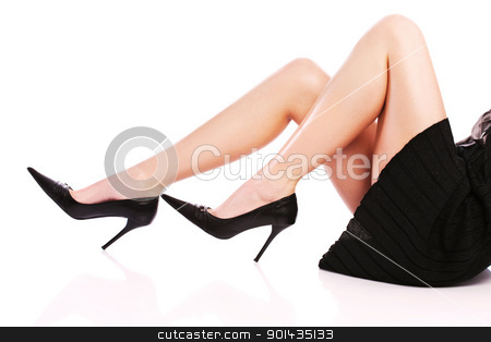 female legs and high heels stock photo, Pretty woman's legs and high heels by iMarin