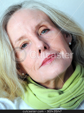 Mature female beauty. stock photo, Mature female beauty expressions. by OSCAR Williams