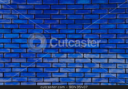 Blue wall stock photo, Blue wall as a background. by Primus
