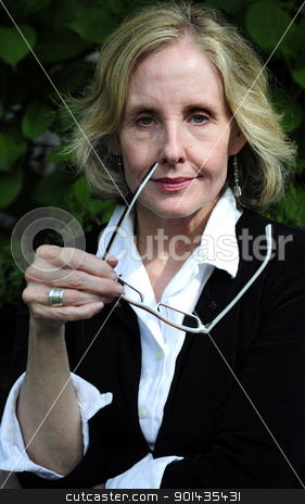 Businesswoman. stock photo, Portrait of a sexy blond businesswoman. by OSCAR Williams