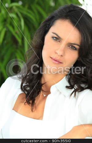 Portrait of beautiful black-haired woman stock photo, Portrait of beautiful black-haired woman by photography33