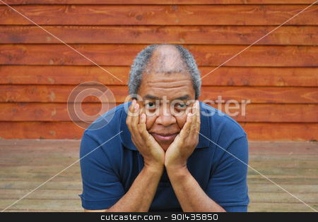 African american male. stock photo, African american male expressions outside. by OSCAR Williams