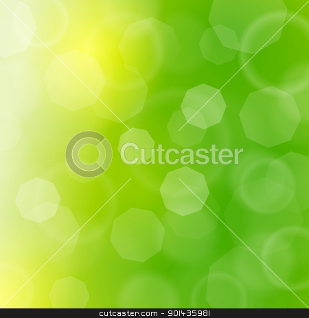 Blurred green sparkles and bokeh stock vector clipart, Vector Illustration of blured lights in green color by Vitezslav Valka