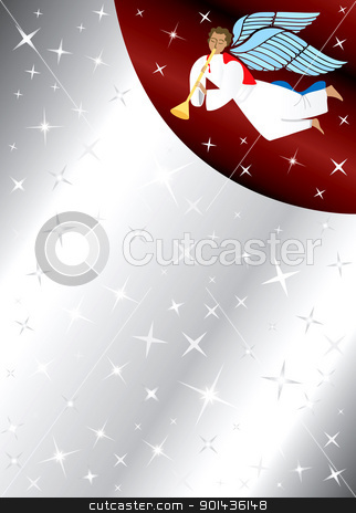 Angel Stars Background stock vector clipart, Vector Illustration of Angel Background with stars. There is space for text or image. by Basheera Hassanali