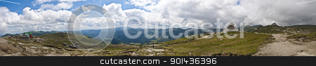 Panorama background in Carpathians. Beautiful mountains and land stock photo, Panorama background in Carpathians. Beautiful mountains and landscape in Romania. by mozzyb