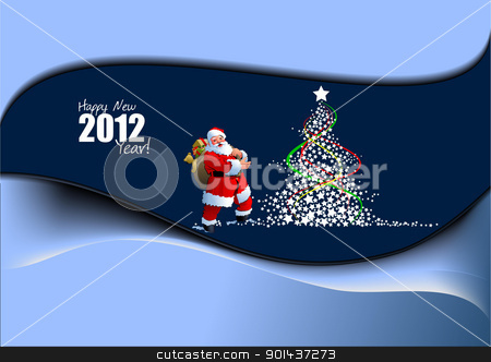 Christmas and Happy New Year Illustration. Vector stock vector clipart, Christmas and Happy New Year Illustration. Vector by Leonid Dorfman