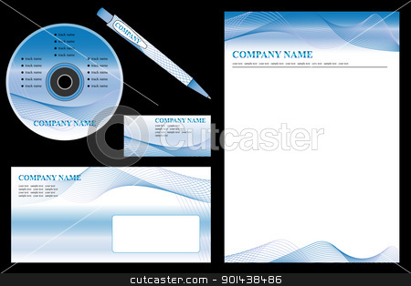Vector easy editable - corporate identity template, business sta stock vector clipart, Vector easy editable - corporate identity template, business stationery set. by mozzyb
