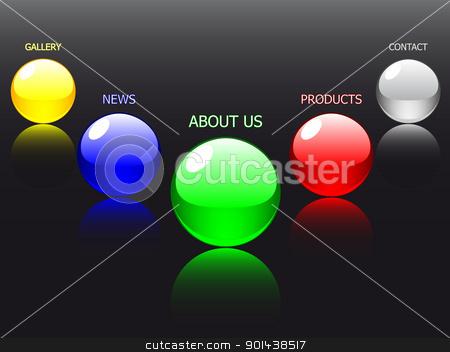 Vector - editable website navigation template, glass ball stock vector clipart, Vector - editable website navigation template, glass ball  by mozzyb