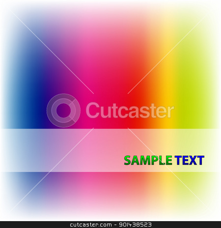 Vector abstract rainbow color background stock vector clipart, Vector abstract rainbow color background by mozzyb